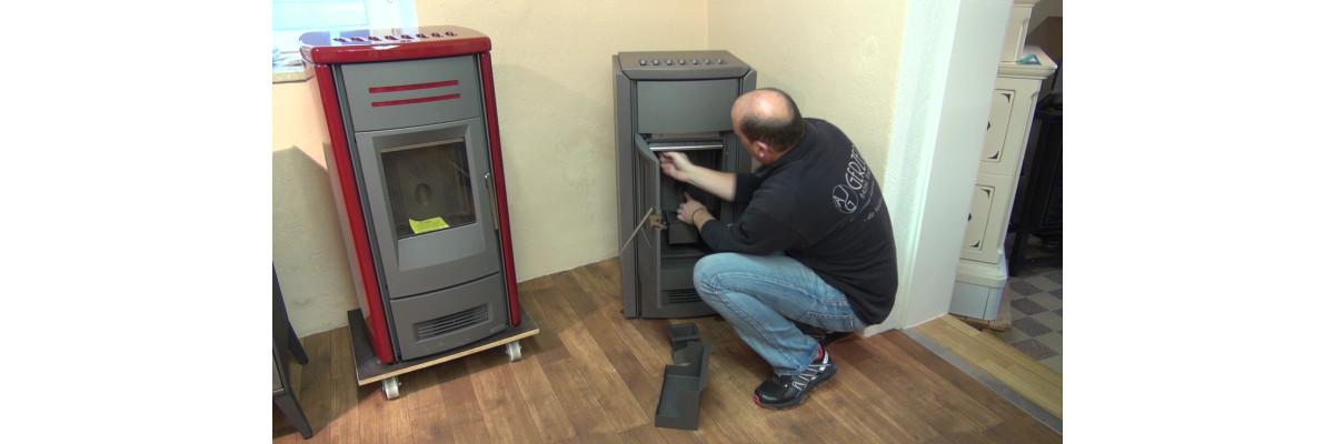 Video zum Reinigen des Pelletofens -