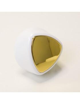 Herdgriff, Handrad für LHS.3 Serie und ZEH, Handrad weiß, Spiegel gold von Lohberger