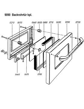 Backrohrtür komplett für LHS/Rega 75 und 90 von...