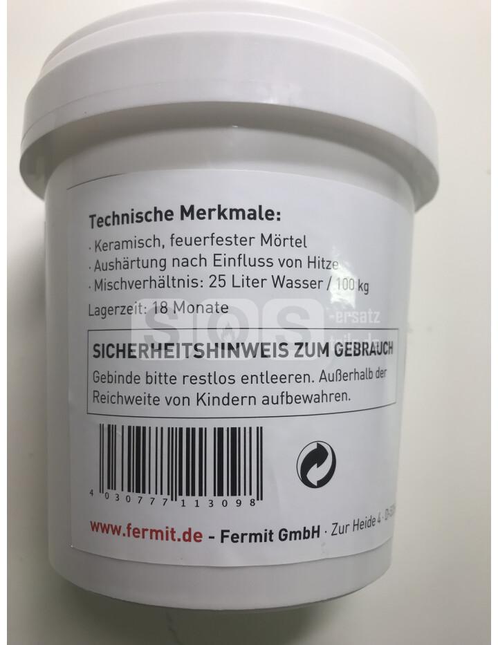 Schamottemörtel 1 kg für Reparatur//Ausmauerung keramisch feuerfester Mörtel