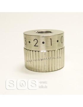 Regelknopf, Reglerknebel Primärluft 0 - 3  in Silber...