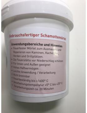 Schamottmörtel, Keramisch, feuerfester Mörtel von Fermit 1 kg Dose