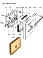 Schauglaspaket für die Backrohrtür mit Thermometer Rechts und Silikondichtung für Ligna Combi 70 und 75 B