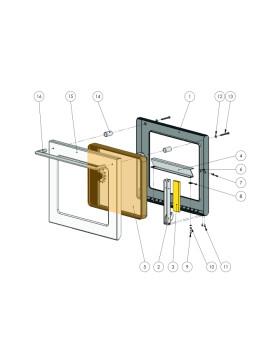 Schauglaspaket für die Backrohrtür mit Thermometer Rechts und Silikondichtung für Ligna Combi 75 A und 80
