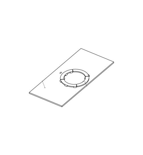 Herdplatte für LC 70 Herd von Lohberger, Stahlplatte