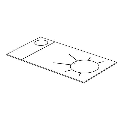 Herdplatte für LHS und Rega 90 Herd von Lohberger, Stahlplatte