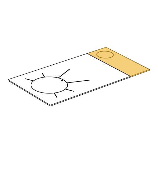 Herdplatte für LHS und Rega 90 Herd von Lohberger, Stahlplatte klein mit RRA rechts