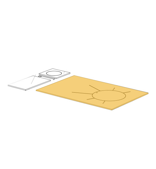 Herdplatte für LHS 105 Herd von Lohberger, Stahlplatte  groß
