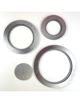 Einlegeringe D 100  mm, 150 mm, 200 mm und 250 mm  für Kochlochdeckel der Stahlherdplatten von Lohberger